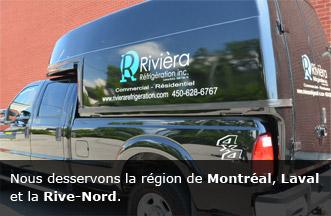 Service Rivièra Réfrigération - Spécialites dans la réfrigération commerciale et industrielle