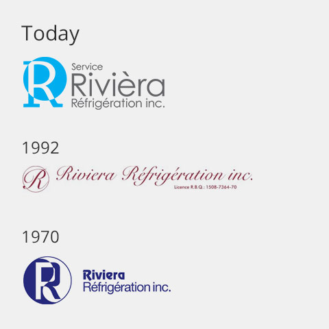 Les différents logos de Rivièra Réfrigération inc.